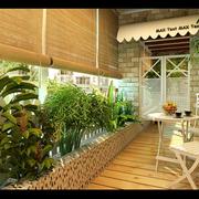 木质感的阳台图