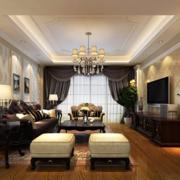 欧式简约型客厅吊顶设计