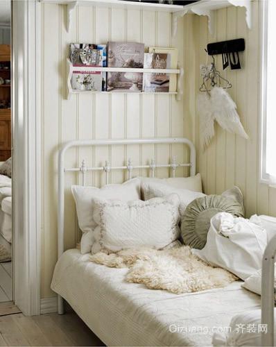 70平两居清新小卧室装修样板间