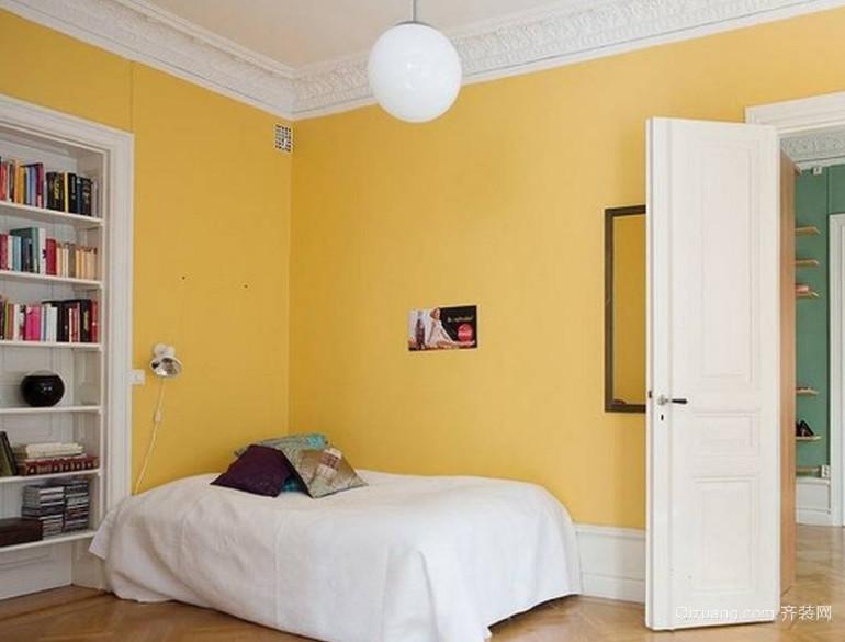 北欧混搭卧室装修风格效果图