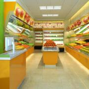 水果店超市货架区