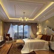 美式简约时尚型卧室吊顶效果图