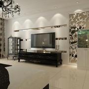 欧式大户型简约系列电视墙设计