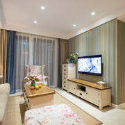 小公寓清新碎花式沙发设计