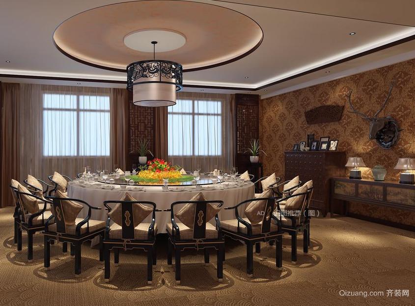 现代中式餐馆效果图