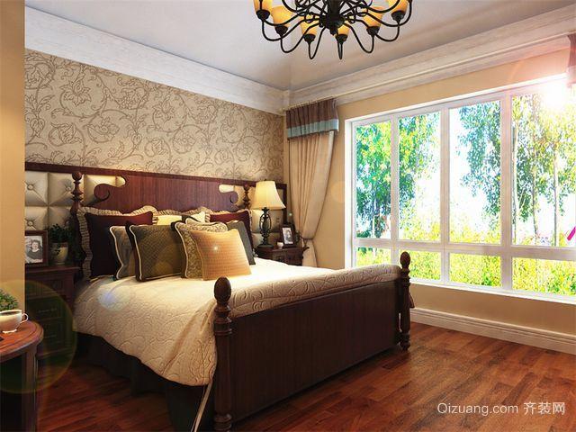 美式田园卧室效果图