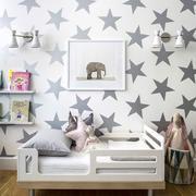 五角星图案背景墙样板间设计