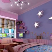 玫紫色儿童房