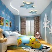 蓝色儿童房