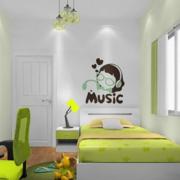 果青色儿童房设计