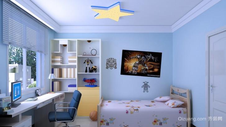 天蓝色儿童房设计
