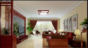 中式简约客厅背景墙