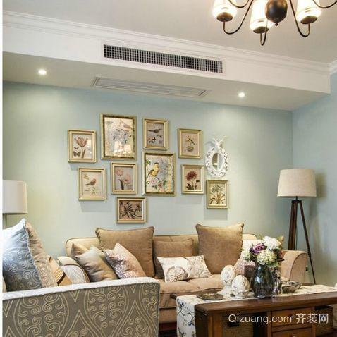 美式现代简约风格照片墙装修效果图