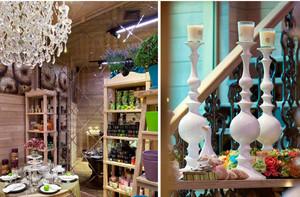 韩式时尚小型花店装修效果图