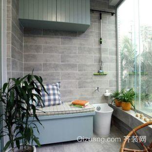 现代自然小清新阳台装修效果图