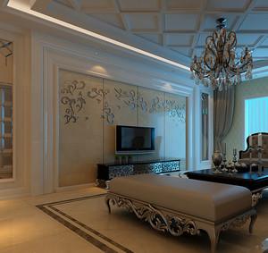 新古典风格客厅电视背景墙装修效果图