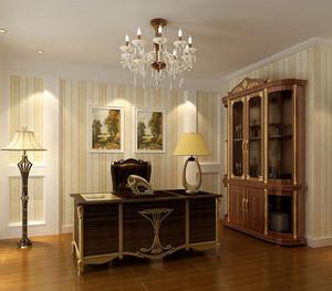 简欧书房室内设计装修效果图
