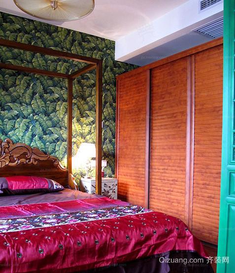色彩绚丽的东南亚卧室装修效果图
