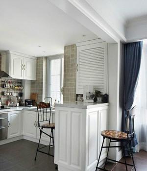 现代简约家庭厨房吧台装修效果图大全