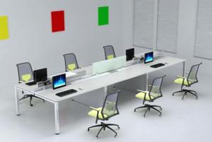 大型商务办公室高档电脑桌效果图