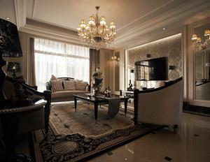 欧式时尚客厅装修效果图