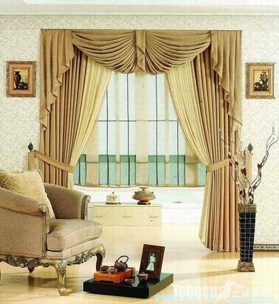歐式客廳窗簾效果圖