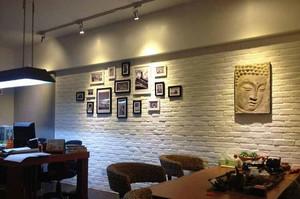 现代简约文化石客厅背景墙装修效果图