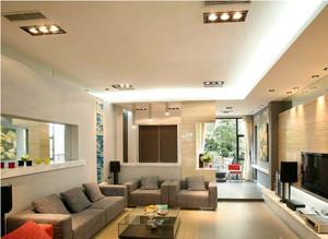 都市现代客厅吊顶效果图