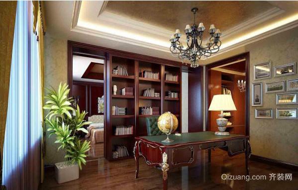欧式书房设计效果图