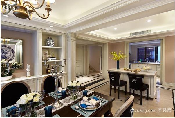 现代法式风格别墅酒柜装修效果设计图