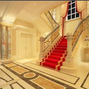 欧式楼梯暖色调