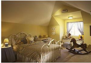 斜顶阁楼卧室装修效果图