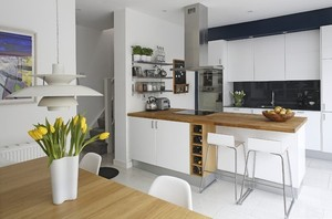 90平米欧式开放式小厨房装修效果图