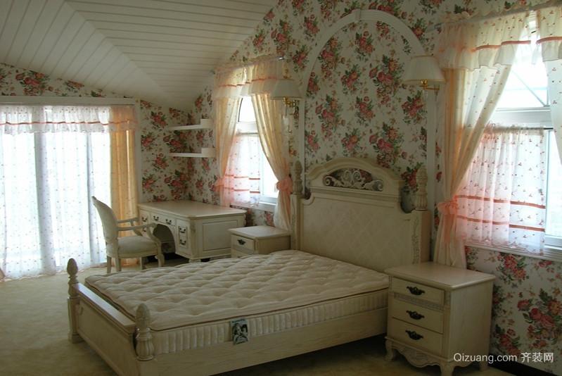 35平米现代简约三室一厅单身公寓卧室装修效果图