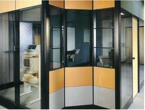 办公室玻璃隔断装修效果图
