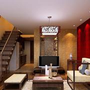 中式客厅暖色调