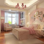 粉色烂漫儿童房