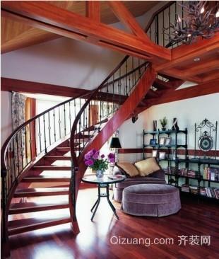小别墅中式楼梯装修效果图