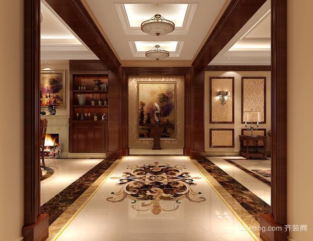120平米大户型客厅进门玄关装隔断修效果图