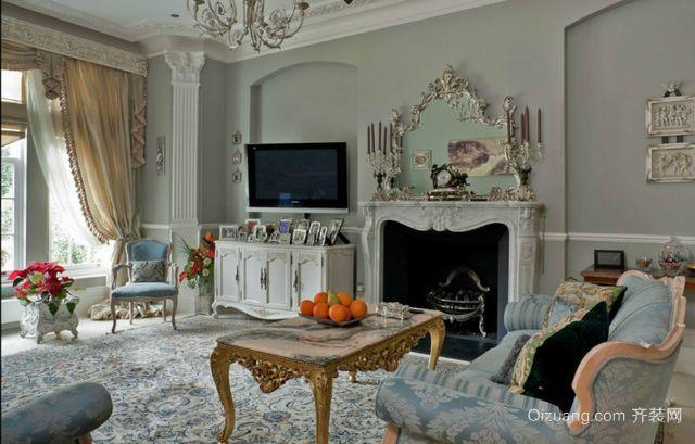 两室一厅居室法式客厅装修效果图