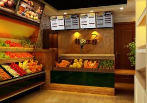 100平米现代简约水果店装修效果图
