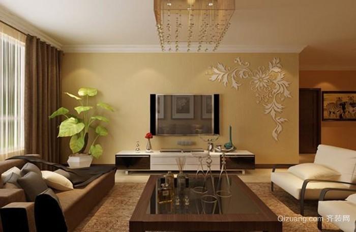 二层复式楼客厅影视墙效果图大全