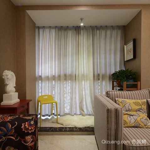 宜家卧室飘窗装修效果设计图