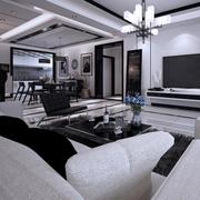 中式客厅吊顶白色款