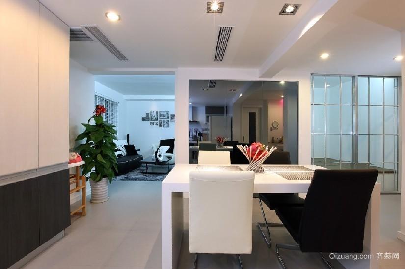 现代简约风格小户型客厅榻榻米床装修效果图
