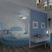 小户型地中海公寓卧室现代款
