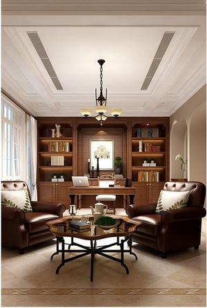 别墅法式书房装修效果图