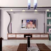 三居室客厅电视墙宜家款
