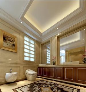 时尚简约欧式风格别墅卫生间装修效果图