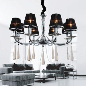 欧式水晶客厅吊灯装修效果图